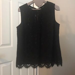 Banana republic tie back lace tank top